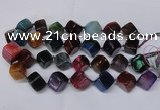 CAG8577 15.5 inches 15*16mm - 17*18mm cube dragon veins agate beads