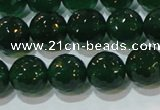 CAG8584 15.5 inches 12mm faceted round green agate gemstone beads