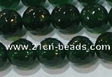 CAG8585 15.5 inches 14mm faceted round green agate gemstone beads