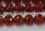 CAG8592 15.5 inches 10mm faceted round red agate gemstone beads