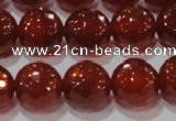 CAG8594 15.5 inches 14mm faceted round red agate gemstone beads