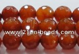 CAG866 15.5 inches faceted round 14mm agate gemstone beads