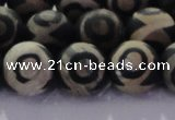 CAG8703 15.5 inches 12mm round matte tibetan agate gemstone beads
