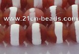CAG8708 15.5 inches 12mm round matte tibetan agate gemstone beads