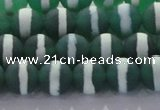 CAG8711 15.5 inches 8mm round matte tibetan agate gemstone beads