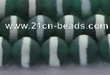 CAG8713 15.5 inches 12mm round matte tibetan agate gemstone beads