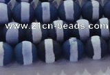 CAG8716 15.5 inches 8mm round matte tibetan agate gemstone beads