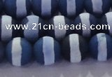 CAG8717 15.5 inches 10mm round matte tibetan agate gemstone beads