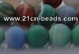 CAG8733 15.5 inches 12mm round matte madagascar agate beads