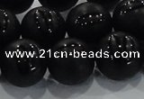 CAG8740 15.5 inches 16mm round matte tibetan agate gemstone beads