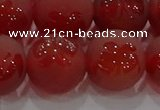 CAG8916 15.5 inches 12mm round matte red agate beads wholesale