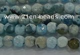 CAG8936 15.5 inches 4mm faceted round fire crackle agate beads