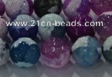 CAG8991 15.5 inches 14mm faceted round fire crackle agate beads