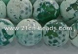 CAG9012 15.5 inches 16mm faceted round fire crackle agate beads