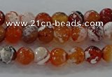 CAG9014 15.5 inches 6mm faceted round fire crackle agate beads