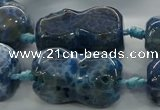 CAG9068 15.5 inches 16*30mm peanut-shaped fire crackle agate beads