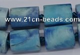 CAG9079 15.5 inches 15*17mm - 15*20mm tube dragon veins agate beads