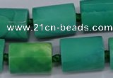 CAG9082 15.5 inches 15*17mm - 15*20mm tube dragon veins agate beads