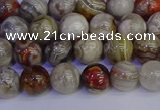 CAG9111 15.5 inches 6mm round Mexican crazy lace agate beads