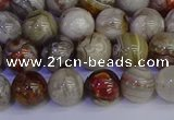 CAG9112 15.5 inches 8mm round Mexican crazy lace agate beads