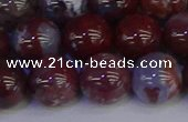 CAG9125 15.5 inches 14mm round red lightning agate beads