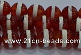 CAG9141 15.5 inches 8mm round tibetan agate beads wholesale