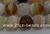 CAG9158 15.5 inches 12mm round line agate beads wholesale