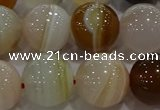 CAG9160 15.5 inches 16mm round line agate beads wholesale