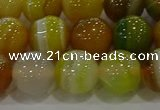 CAG9167 15.5 inches 14mm round line agate beads wholesale
