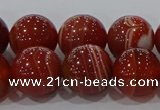 CAG9180 15.5 inches 12mm round line agate beads wholesale