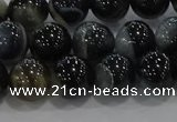 CAG9187 15.5 inches 10mm round line agate beads wholesale