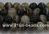 CAG9202 15.5 inches 6mm round line agate gemstone beads