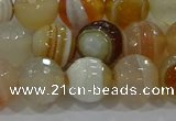CAG9223 15.5 inches 10mm faceted round line agate beads wholesale