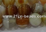 CAG9224 15.5 inches 12mm faceted round line agate beads wholesale
