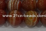 CAG9234 15.5 inches 14mm faceted round line agate beads wholesale
