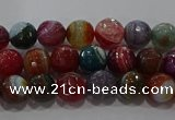 CAG9263 15.5 inches 6mm faceted round line agate beads wholesale