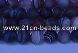 CAG9371 15.5 inches 6mm round matte botswana agate beads