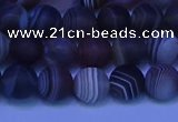 CAG9372 15.5 inches 8mm round matte botswana agate beads