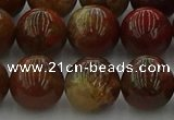 CAG9394 15.5 inches 12mm round red moss agate beads wholesale