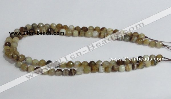 CAG945 16 inches 8mm faceted round madagascar agate gemstone beads