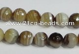 CAG946 16 inches 10mm faceted round madagascar agate gemstone beads