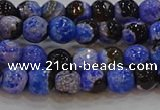 CAG9461 15.5 inches 6mm faceted round fire crackle agate beads