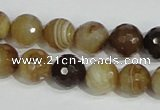 CAG947 16 inches 12mm faceted round madagascar agate gemstone beads