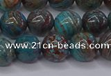 CAG9473 15.5 inches 8mm round blue crazy lace agate beads