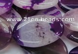 CAG952 15.5 inches 22*30mm oval purple agate gemstone beads