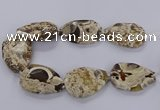 CAG9532 15.5 inches 35*50mm - 38*52mm freeform ocean agate beads