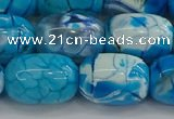 CAG9545 15.5 inches 13*18mm drum dragon veins agate beads