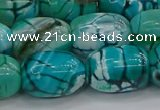 CAG9546 15.5 inches 13*18mm drum dragon veins agate beads