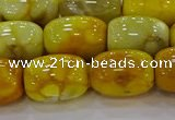 CAG9547 15.5 inches 13*18mm drum dragon veins agate beads