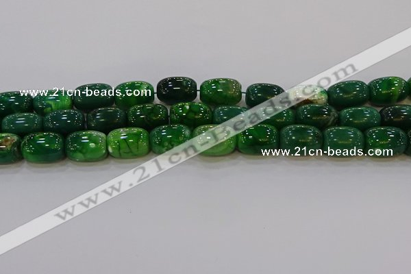 CAG9569 15.5 inches 13*18mm drum dragon veins agate beads
